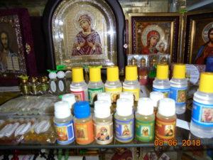 освященное масло , елей, масло освященное с благовониями