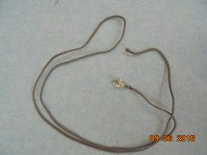 шнурки для крестиков- гайтаны с карабином и петелькой