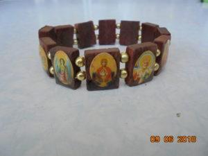 браслеты Спаси и сохрани деревянные с ликами