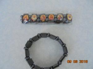браслеты Спаси и сохрани из камня гематит с ликами