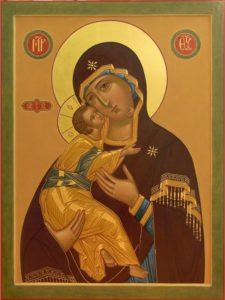 Селигерская Владимирская икона Богородицы. Православные иконы.