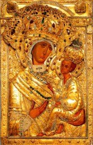 Тихвинская икона в Тихвинском монастыре