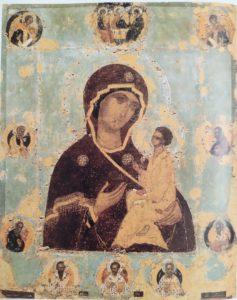 Тихвинская икона с предстоящими