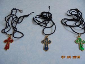 Крестики нательные металлические с эмалью
