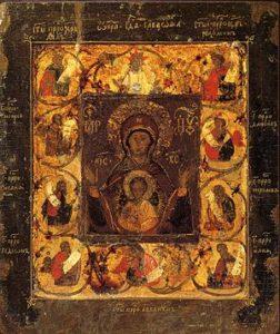 Чудотворные икона Божией Матери  Знамение Курская  Коренная