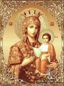 Акафистная-Зографская икона Божией Матери
