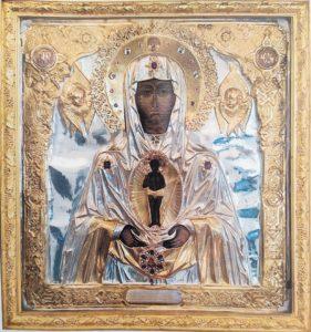 Албазинская  икона  Божией  Матери  17 век