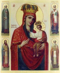 Ильинско ( Черниговская ) икона Божией Матери