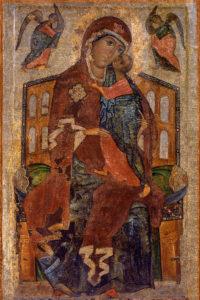 Тронная  Толгская  икона  Божией  Матери