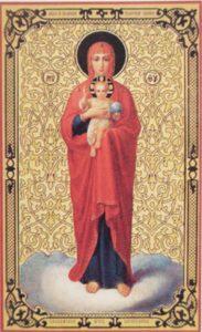 Валаамская  икона  Божией  Матери XIX век