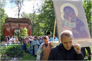 Воронинская икона Божией Матери, крестный ход
