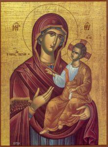 Григориатская икона Богородицы