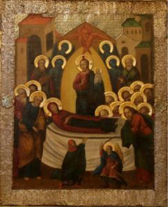 Псково-Печерская икона Успения старая